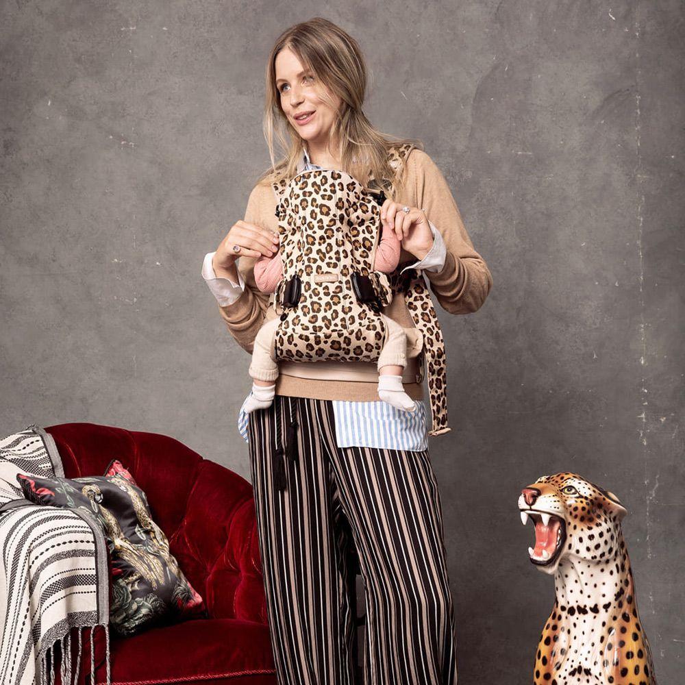 Babybjorn Mini Μάρσιπος Cotton Beige/ Leopard