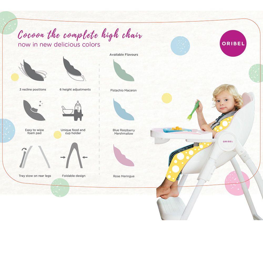 Cocoon Highchair Καρέκλα Φαγητού - Relax 3 Επιπέδων - Ροζ