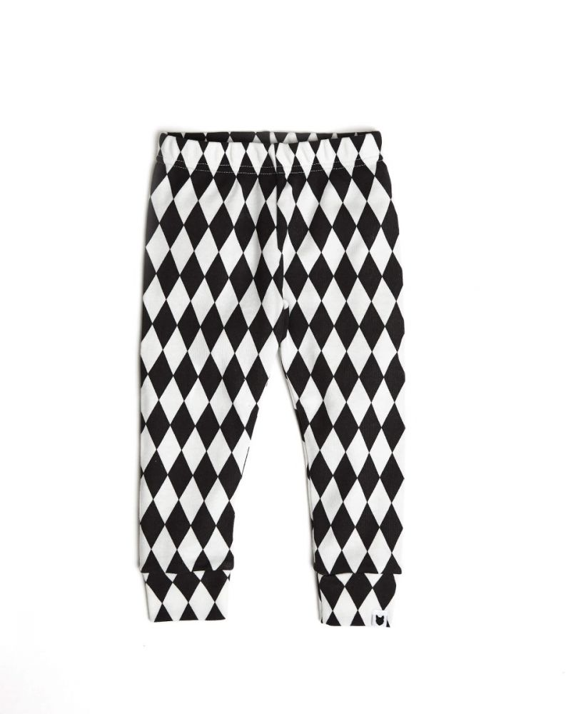 Harlequin leggings (charcoal)
