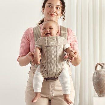 BabyBjörn Mini Μάρσιπος 3D Mesh -Grey Beige