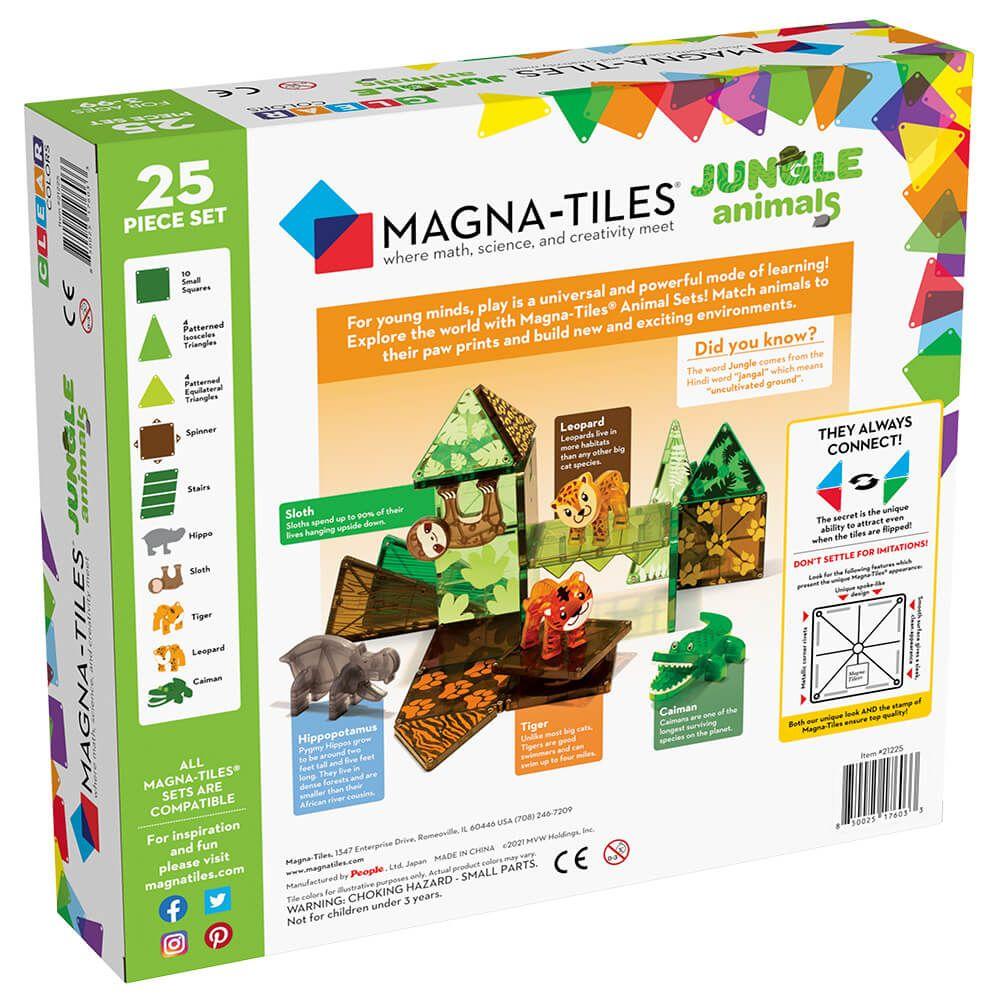 Μαγνητικό Παιχνίδι 25 κομματιών Jungle Magna-Tiles