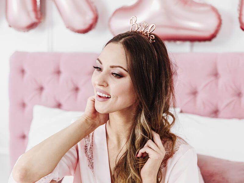 Headband Bride, rose gold